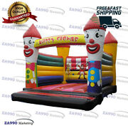 16x13ft Commercial Inflatable Clowns Colourful Bounce House With Air Blower