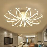 Shade-less Chandeliers Stylish Led Bulb Lamp Home Ceiling Light Fixtures Modern