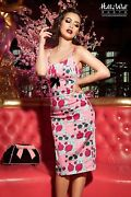 Nwt Pinup Couture Mary Blair Evangeline Dress Medium In Lips And Roses Pink