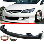 Fit 09-11 Honda Civic 4dr Sedan Pu Mugen Front Bumper Lip Spoiler Bodykit
