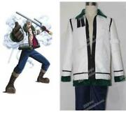 One Piece Smoker The White Hunter Marine Captain Uniform Outfit Cosplay Costume