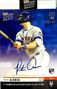 Pete Alonso2019 Topps Now 1st Home Run Autograph 48/49 Rookie Card 32bnew🔥