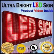 Wifi Mobile And Pc App Programmable 19 X 88 Red Color Outdoor Business Led Sign