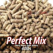 40lb Hickory Cherry Maple And Apple Mix Wood Cooking Bbq Pellets Smoker Grill