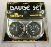 Vintage Nos 2 Chrome Oil Pressure And Amperes Amp Dual Gauge 1922 Chevy Gm Ford