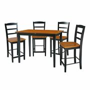 32x48 Counter Height Table With Four Emily Stools Black Cherry