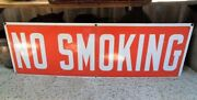 Vintage No Smoking Porcelain Single Sided Sign Ready Made Sign Co Ny 36 X 12