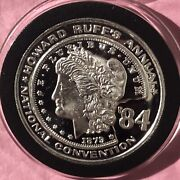 1984 Free The Eagle National Convention Coin 1 Troy Oz .999 Fine Silver Round Ag