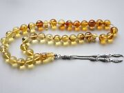 Insect Fossil Baltic Amber Prayer Beads 33beads 115mm Tesbih Misbaha F20