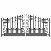 Aleko Venice Style Ornamental Iron Wrought Dual Driveway Gate 16and039 High Quality
