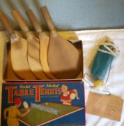 Vintage Table Tennis Game Gold Medal Transogram Co. No. 67 -in Box Made In Usa