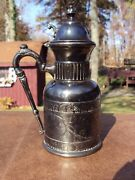 C. 1882+ Silverplated Syrup Jug By Rockford Silver Plate Co. Rockford Illinois