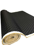 Black Pvc Quilted Upholstery Vinyl Fabric With 3/8 Foam Backing By The Yard