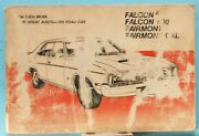 Ford Falcon operation Manual/maintenance Schedule - 1978