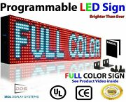 Wi-fi Mobile And Window App Programmable Full Color 6 X 76 Led Sign Outdoor Open