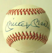 Yankees Legend Mickey Mantle Signed Ball Loa Psa/dna