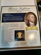 Thomas Jefferson Coin/medal And Stamp Collection Commemorative