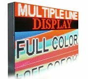 Wi-fi Mobile App Programmable Full Color 12 X101 Led Sign Outdoor Open Display