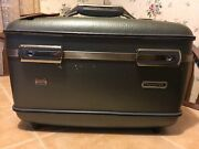 Vintage American Tourister Train Case Cosmetic /carry On Bag Andtray And Mirror