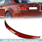 Paint Fit For Bmw Coupe E82 1-series M4 Frp Trunk Boot Spoiler 128i 135i 07-13