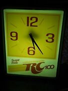 Royal Crown - Rc 100 Lighted Wall Clock [dualite] And03980s Ltd Soda Campaign Promo