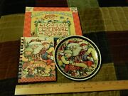 Mary Engelbreit [lot] Crafts To Celebrate The Season + Santa Plate + Note Pad