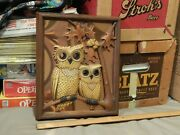 Owls On Oak Tree [11.5and039and039x9.5and039and039] Coppercraft Guild_taunton Mass. Wall Decor