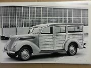 1937 Ford Woody Station Wagon 12 X 18 Black And White Picture