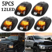 5x 12led Amber Smoked Suv Rv Truck Pickup 4x4 Cab Roof Top Running Marker Lights