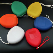 150 X Cpr Mask Box Transparent One Way Valve First Aid Training Pouch Face Mask