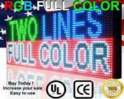Wi-fi Mobile App Programmable Full Color 19 X 76 Led Sign Outdoor Open Display
