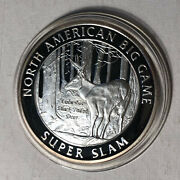 North American Hunting Club Big Game Columbia Black Tailed Deer Silver Round