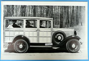 1932 Ford Woody Station Wagon W/side Mount Tire 12 X 18 Black And White Picture