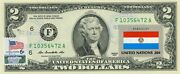 Us 2 Dollars Stamp Cancel Flag Of Un From Paraguay Lucky Money Value 125