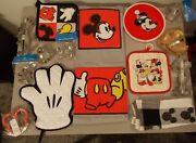 Disney Parks Mickey Mouse Apronpotholders Towel And Sandwich / Cookie Cutters