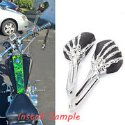 Skull Motorcycle Rear View Mirrors For 2019 Harley Davidson Breakout Fxbrs 114