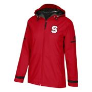 Nc State Wolfpack Ncaa Adidas Womenand039s Climawarm Red Game Built Rain Jacket