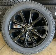 Genuine Range Rover 502 20 Black Alloy Wheels And General Grabber At3 Tyres X4