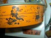 Very Rare 1930s, Darling Tin Lithographed, Sand Sifter Toy, Victorian Children