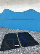Hobie Cat 16 Trampoline New Black Mesh With Double Pockets And Blue Straps +brl