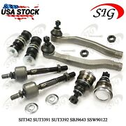 Front Tie Rod End Sway Bar Link Lower Ball Joint Kit For Acura Cl 1998-1999 8pc