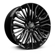 22 Hawke Vega Black Alloy Wheels And Tyres For Range Rover Vogue And Sport
