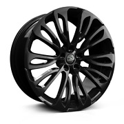 22 Hawke Halcyon Black Alloy Wheels And Tyres For Range Rover Vogue And Sport