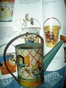 Ohio Art 1940s Tin Lithographed Watering Can Dutch Children,beatrice Hk Benjamin