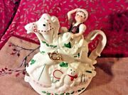 Lenox Christmas Teapot Elf Rocking Horse Never Out Of Box New Perfect Condition