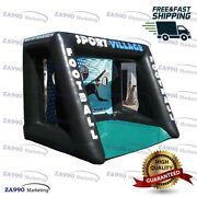 13x10ft Inflatable Football Shooting Soccer Toss Kids Goal Game With Air Blower