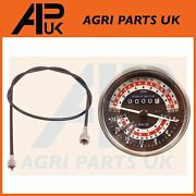Rev Tachometer 6 Speed Kph And Tacho Cable For Massey Ferguson 165 175 185 Tractor