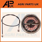 Tachometer Rev Gauge And Tacho Drive Cable For Massey Ferguson 165 168 185 Tractor
