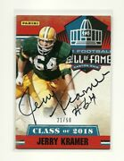 2019 Panini National Silver Pack Jerry Kramer Sp Hall Of Fame On Card Auto 21/50