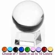 Amlong Crystal Sphere Crystal Ball With Angled Crystal Stand Engraving Feng Shui